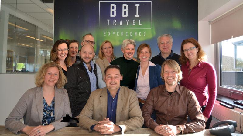 Het enthousiaste BBI Travel-team.