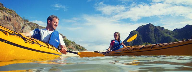 Kayakavontuur in Noorwegen, heel Covid-proof