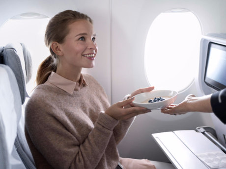 Service aan boord bij Finnair