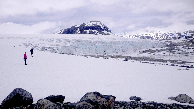 Gletsjerwandeling op de Tystigbreen gletsjer