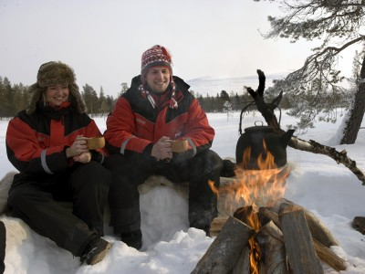 Gezellig outdoor in Fins Lapland